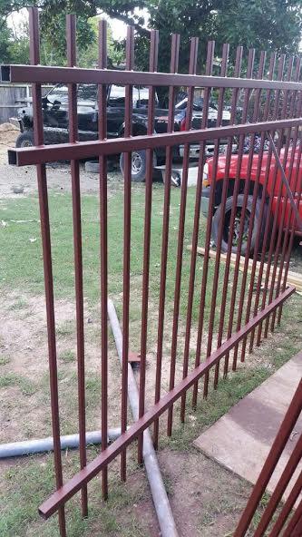 image of prefabricated steel fence panel